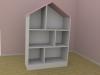 Doll's House Bookcase 3D Model Screenshot / Render