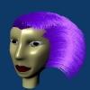 Woman's Head 3D Model Screenshot / Render