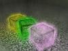 Glowing Glass Bricks 3D Model Screenshot / Render