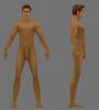 Male Ultra Low Poly Model 3D Model Screenshot / Render