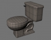 Toilet 3D Model Screenshot / Render