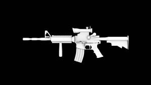 M4 A1 assault rifle 3D Model Screenshot / Render