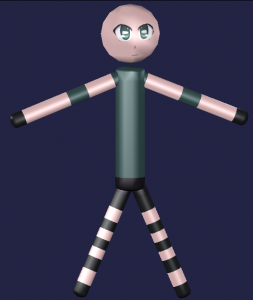 stick figure 3D Model Screenshot / Render