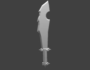 speed sword 3D Model Screenshot / Render