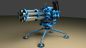 gatling gun 3D Model Screenshot / Render