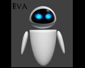 Eva from WALL-E 3D Model Screenshot / Render