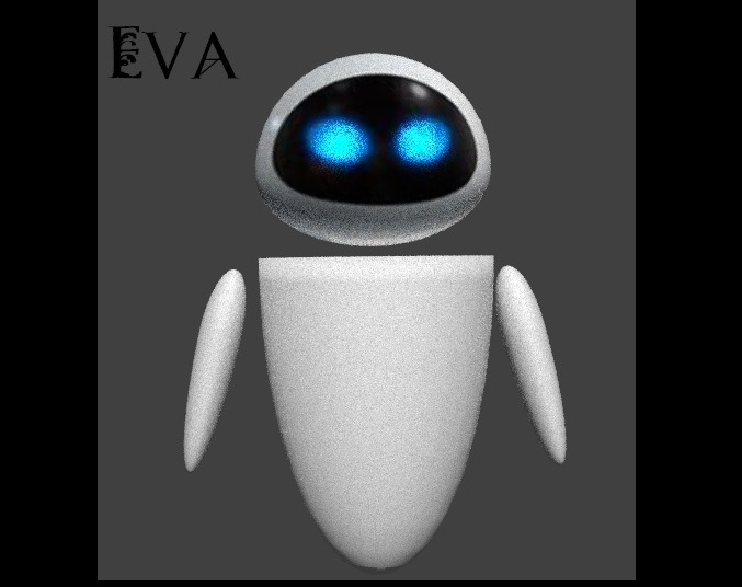 Eva From Wall E Blender 3d Model