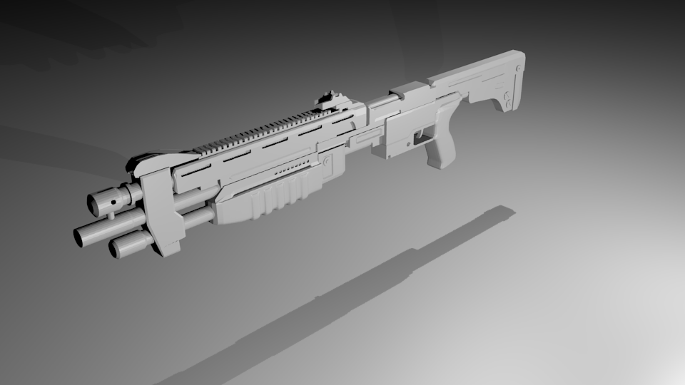 Halo Shotgun | Blender 3D Model