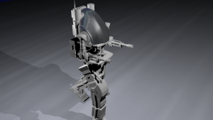 mech robot 3D Model Screenshot / Render