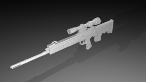 qbu-95 sniper rifle 3D Model Screenshot / Render