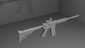 AR-15 assault rifle 3D Model Screenshot / Render