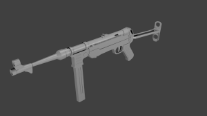 MP40 submachine gun 3D Model Screenshot / Render