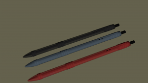 pens 3D Model Screenshot / Render