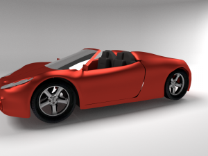 Ferrari spider 3D Model Screenshot / Render