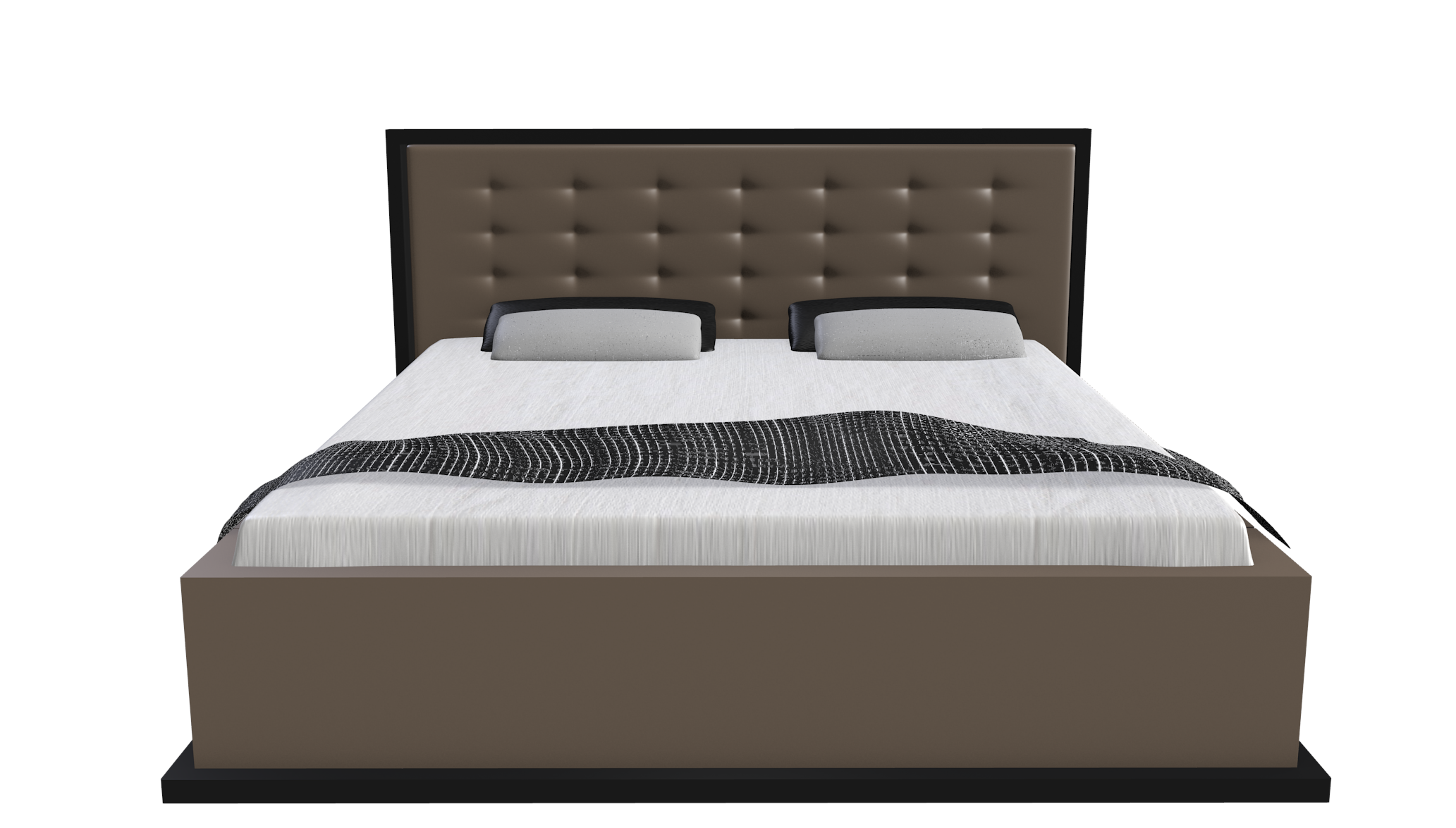 king bed model blender 3d model