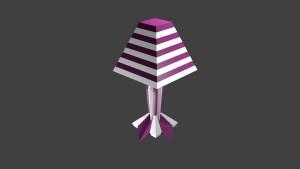 Pink-white Lamp 3D Model Screenshot / Render