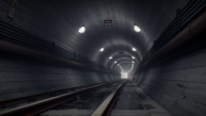 Subway / Underground / Tube / Tunnel Scene 3D Model Screenshot / Render