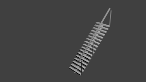 Right Handrail 10 Ft staircase 3D Model Screenshot / Render