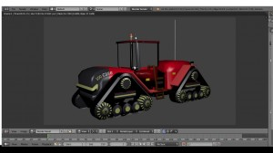 Case 500 Quadtrac tractor 3D Model Screenshot / Render
