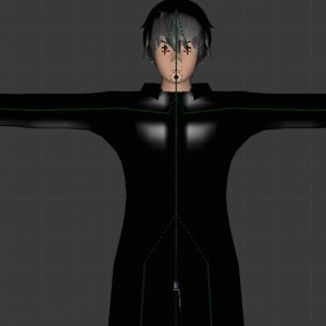 Anime unity3d rigged animated face 3D Model Screenshot / Render