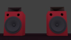 loudspeaker 3D Model Screenshot / Render