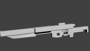 SandBlast rifle 3D Model Screenshot / Render