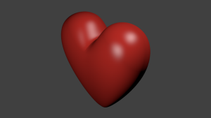 A heart for your projects 3D Model Screenshot / Render