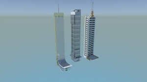 Skyscrapers 3D Model Screenshot / Render