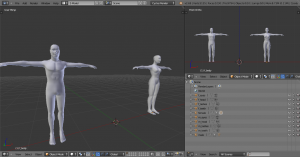 Male and Female fully Rigged 3D Model Screenshot / Render
