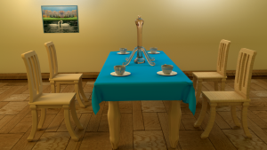 dinning table 3D Model Screenshot / Render