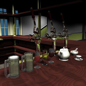 The Black Kettle Pub 3D model 3D Model Screenshot / Render