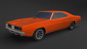 Dodge Charger 1969 3D Model Screenshot / Render