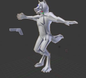 Anthro Wolf model + bones 3D Model Screenshot / Render