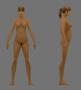 Female Ultra Low Poly Model 3D Model Screenshot / Render