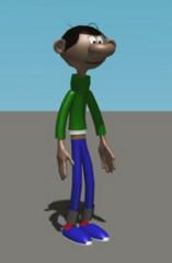 Gaston Lagaffe 3D Model Screenshot / Render