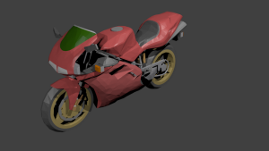 Motorbike 3D Model Screenshot / Render